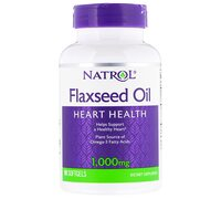 Natrol Omega 3 Flaxseed Oil/Льняное масло 1200 mg 90 капсул