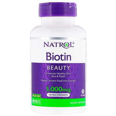 Natrol Biotin 5000 mcg 150 таблеток