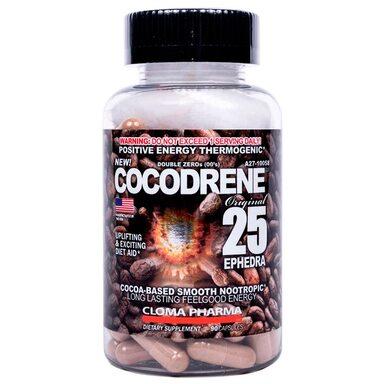Cocodrene 25/Кокодрен жиросжигатель/ноотроп Cloma Pharma 90 капс/caps